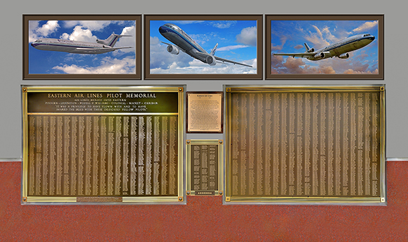 Eastern Airlines Pilots Memorial Display